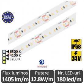 Bandă LED flexibilă SMD2216 12.8W/m IP68 180led/m 24V