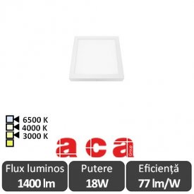 Aca Lighting Panou Led Pătrat Arca 18W
