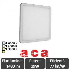 ACA Lighting Panou Led Pătrat Flexi Alb 19W