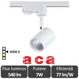 ACA Reflector interior sina monofazată Zuno 7W 4000K Alb/Negru/Gri