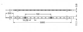 Bandă LED flexibilă - Osram VFP1000 827 7.6W/m 24V rolă 5m alb-cald