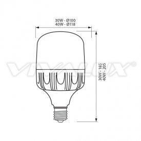 Bec Vivalux LED TURBO E27 30W 4000/6400K