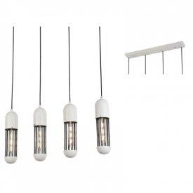 Lampa suspendata HM174P65WH 4xE27