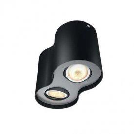 Philips - Spot aplicat HUE Pillar Negru 2x5.5W  LED