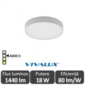 Plafonieră LED Vivalux DARS LED 18W alb-neutru