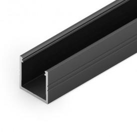 Profil LED aparent SMART 16, negru, lungime 2m