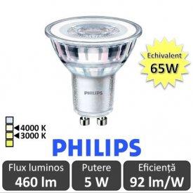 Spot LED Philips - Classic MV 5-65W GU10 Nedimabil 3000/4000K