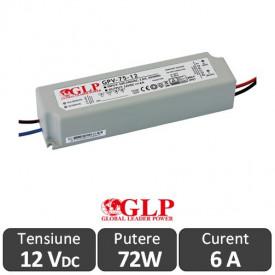 Sursa alimentare GLP LED 72W 12V IP67