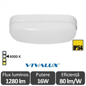 Vivalux BALI LED oval 16W IP54 alb-neutru