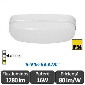 Vivalux BALI LED oval 16W IP54 alb-neutru