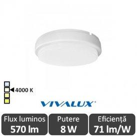 Vivalux ELLIS R Led 8W IP54 4000K Alb-Neutru