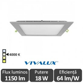 Vivalux Panou GRID LED Panel 18W CL/SR 4000K Aluminiu