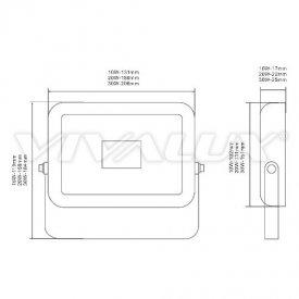 Vivalux - Proiector TREND LED de Exterior 20W IP65 4000K Alb-Neutru Culoare Alb