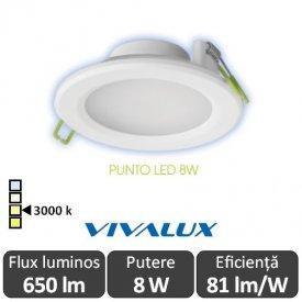 Vivalux PUNTO  LED 8W alb-cald