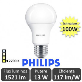 Bec LED Philips - CorePro LED bulb 2x13W A60 E27 827 alb-cald