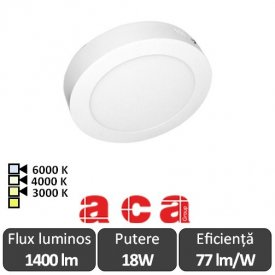 Aca Lighting Panou Led Rotund Arca 18W