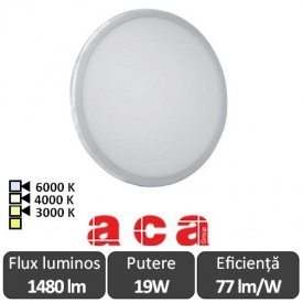 ACA Lighting Panou Led Rotund Flexi Alb 19W