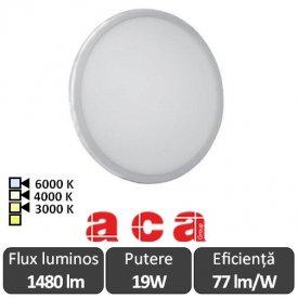 ACA Lighting Panou Led Rotund Flexi Alb 19W