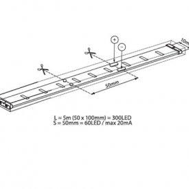Bandă LED flexibilă - Vivalux RGB Mega LED 14,4W/m 12V rolă 5m RGB