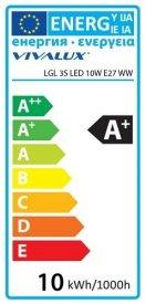 Bec LED Aca Filament Dimabil in 3 trepte 8W E27 alb-cald