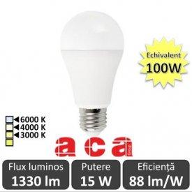 Bec LED Aca LED E27 15W A60 3000/4000/6000K