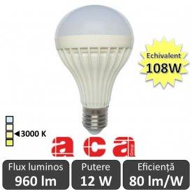 Bec LED Aca - Senzor miscare 12W A70 230V E27 alb-cald