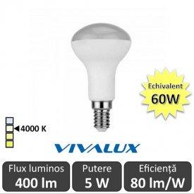 Bec LED Reflector Vivalux 5W 400lm E14 4000K