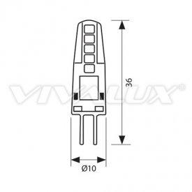 Bec Vivalux - NOVA LED 2W G4 alb-cald