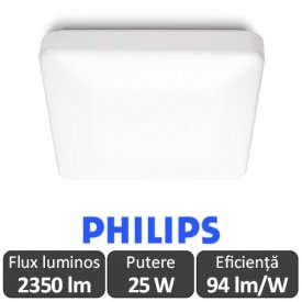Lampă de plafon LED Philips Linen alb-neutru
