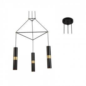 Lampa suspendata HM853P56BK 3xGu10