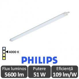 Philips Ledinaire - Corp iluminat cu LED etans 51W WT060C LED56S/840