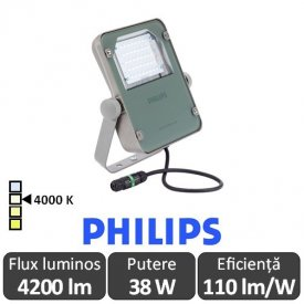 Philips-Proiector LED BVP110 40W asimetric,alb-neutru