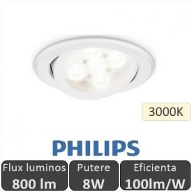 Philips - Spot LED RS011B 8W/830 orientabil, alb-cald