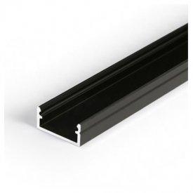 Profil LED aparent BEGTON 12, negru, lungime 2m