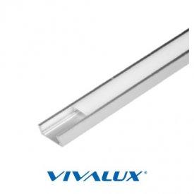 Profil LED aparent, tip S2M, aluminiu, lungime 2m