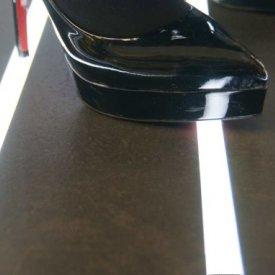 Profil LED de pardoseală FLOOR12, aluminiu anodizat, lungime 2m
