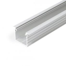 Profil LED încastrat LINEA IN 20, aluminiu neanodizat, lungime 2m