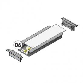 Profil LED încastrat VARIO 30-06, aluminiu anodizat, lungime 2m