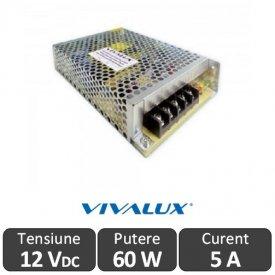 Sursa alimentare LED 60W 12V-5A IP20