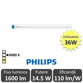 Tub LED Philips CorePro LEDtube 1200mm 14.5W 840 230V, alb-neutru