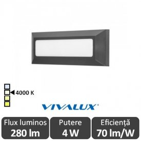 Vivalux ALVIA RC Led 4W IP65 4000K Alb-Neutru