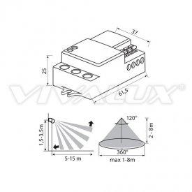 Vivalux OSCAR MW18/IN Senzor infrarosu