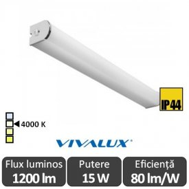 Vivalux VISTA LED 15W IP44 alb-neutru