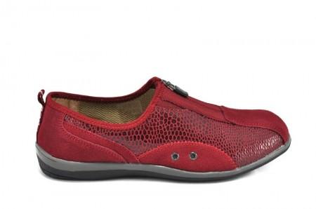 Pantofi rosii din piele naturala Glen