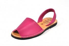 Sandale Avarca fuxia, din piele naturala