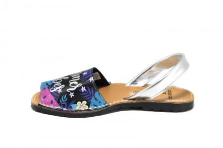 Sandale Avarca Vibes negre, din piele naturala
