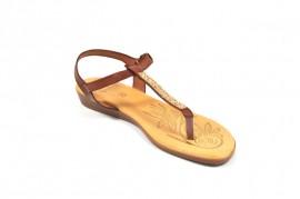Sandale maro Hembra din piele naturala