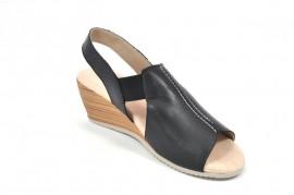 Sandale negre Tupie, din piele naturala