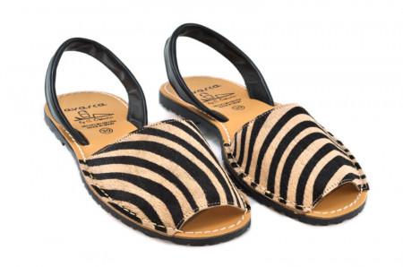 Sandale Avarca Pony bej, piele naturala
