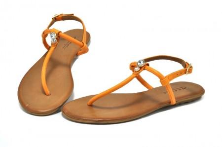 Sandale portocalii piele naturala Berta